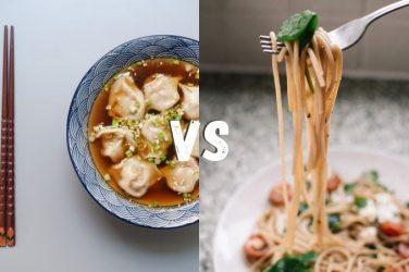 cibo cinese vs spaghetti