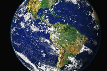 Pianeta Terra visto dallo spazio