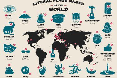 infografica nomi divertenti delle città nel mondo