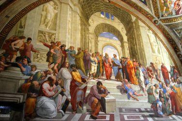 Frasi in Greco antico, Scuola di Atene