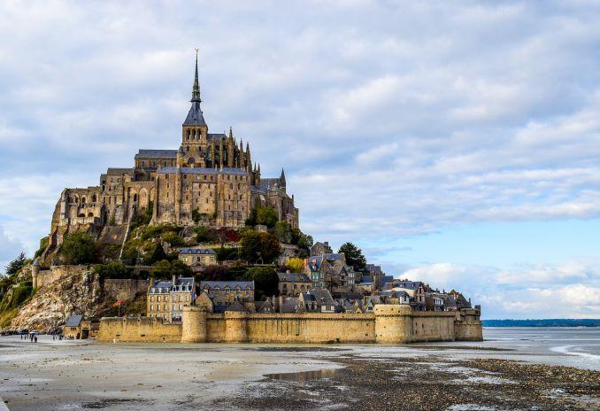 Città da visitare, Mont-Saint-Michel, Normandia, Francia