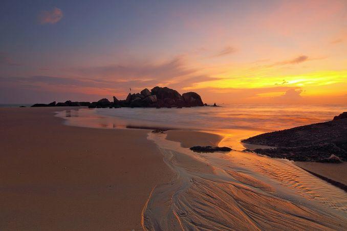 Frasi sul mare in inglese, Tramonto sulla spiaggia