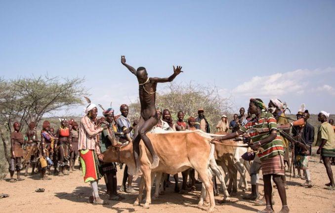 Tribù Africane, Salto del toro