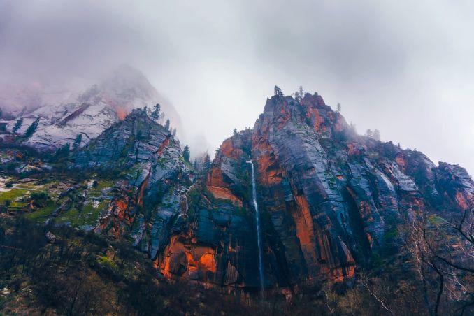 Frasi sulla montagna, Montagna nebbiosa