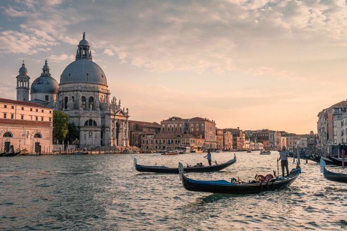 Venezia, Canal Grande al crepuscolo