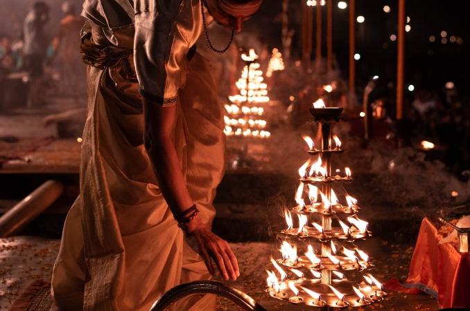 festività indiane diwali luci