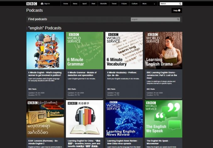 podcast inglese della bbc