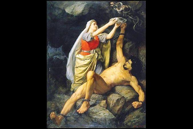 punizione di loki mitologia norrena