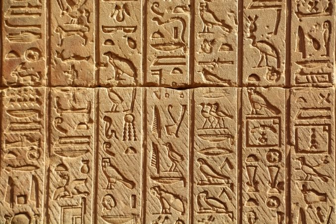 geroglifici scrittura egizia