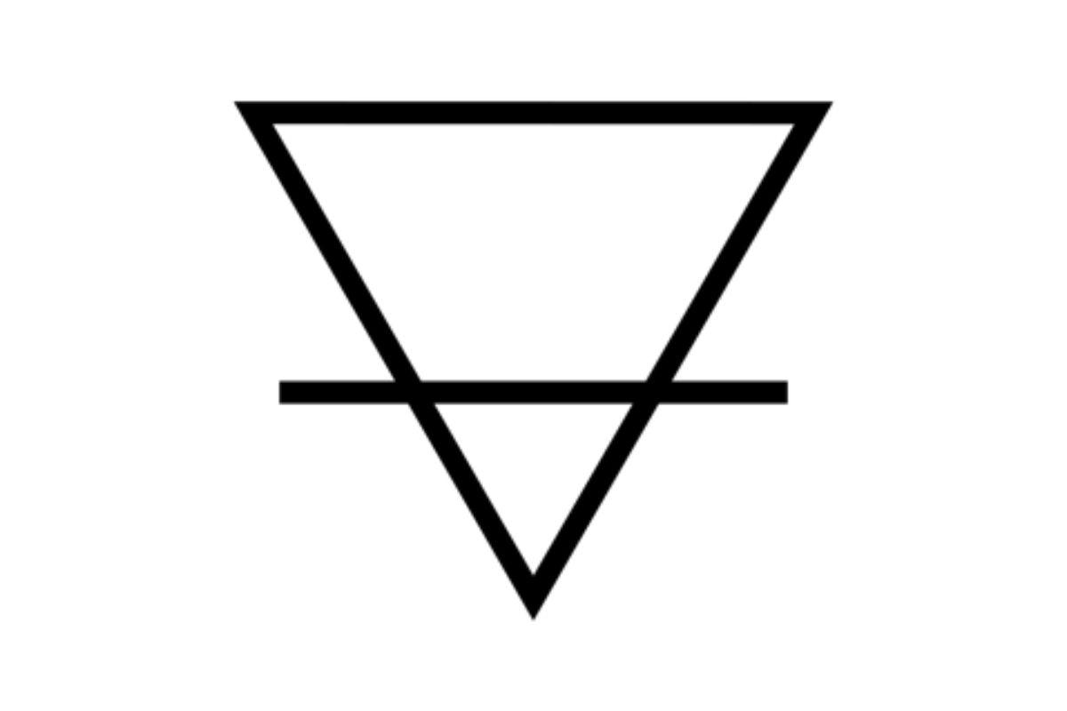 simbolo alchemico terra