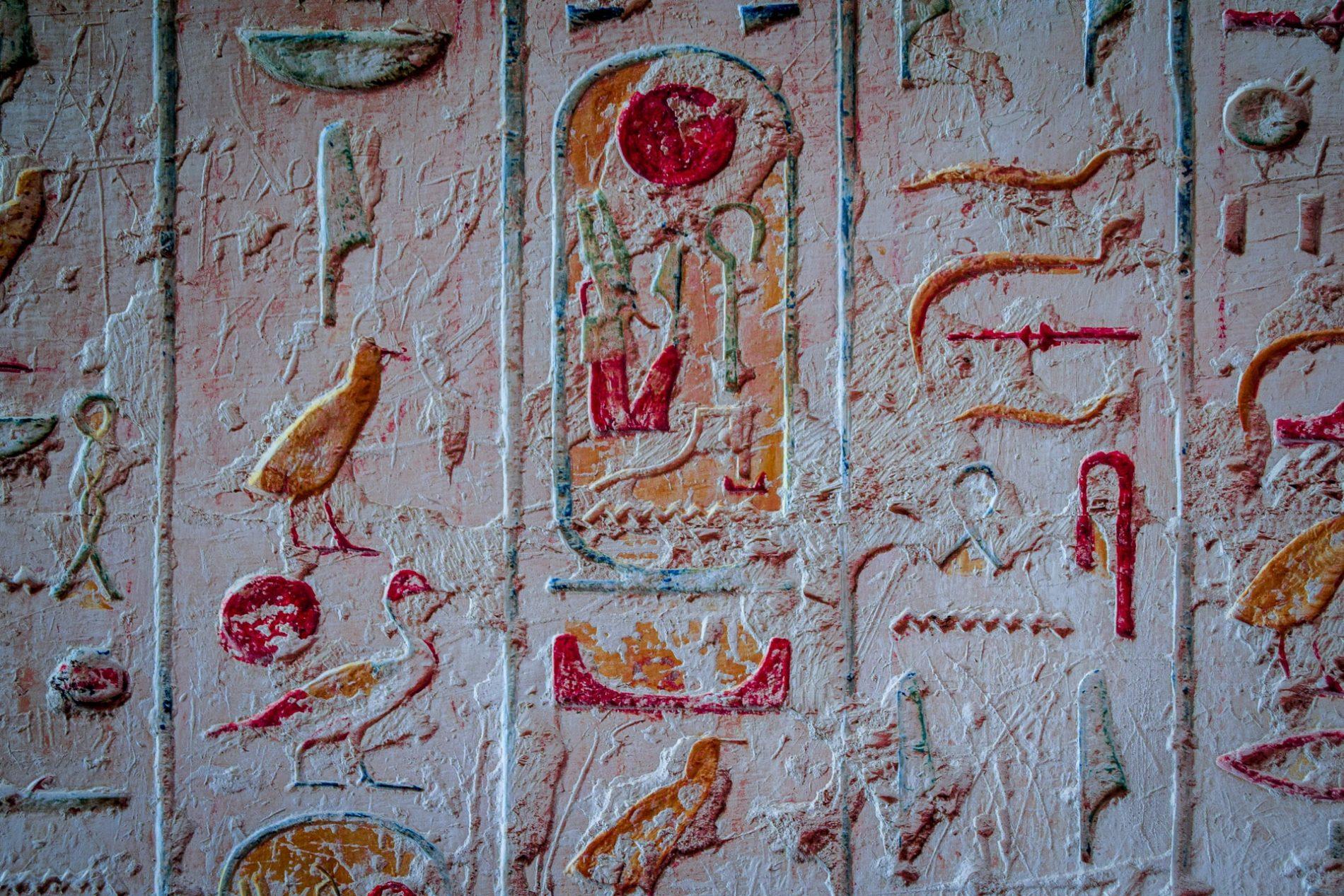 scrittura egizia tomba faraone